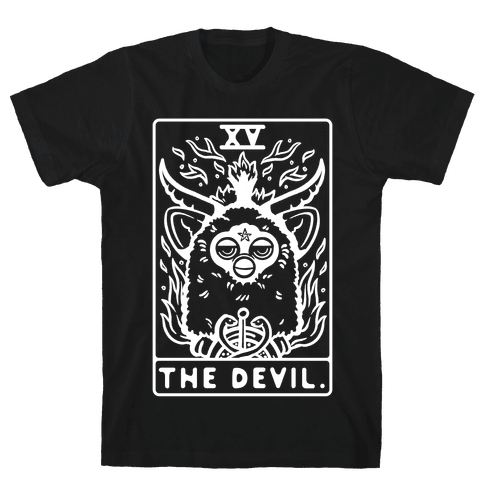 The Devil Tarot Card Furby Mens/Unisex T-Shirt