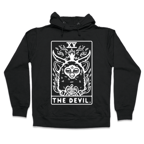 The Devil Tarot Card Furby Hooded Sweatshirt