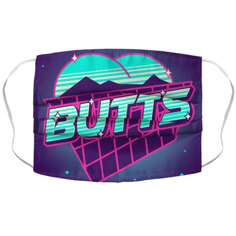 Retro Butts Accordion Face Mask