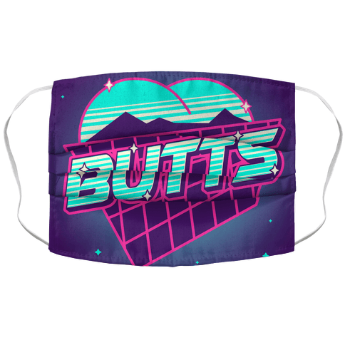 Retro Butts Face Mask Cover