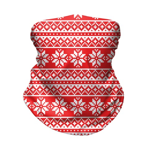 Christmas Sweater Pattern Neck Gaiter