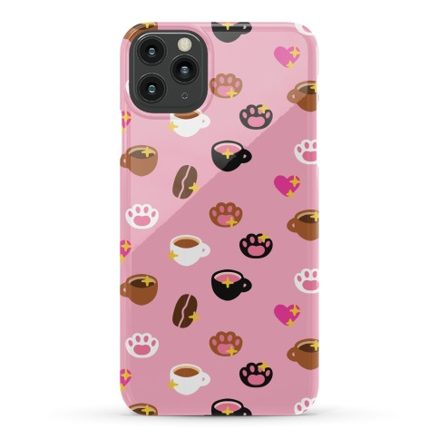 Kitty Coffee Beans Pattern Phone Case