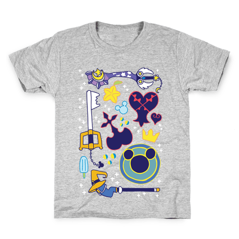 Kingdom Hearts pattern Kids T-Shirt