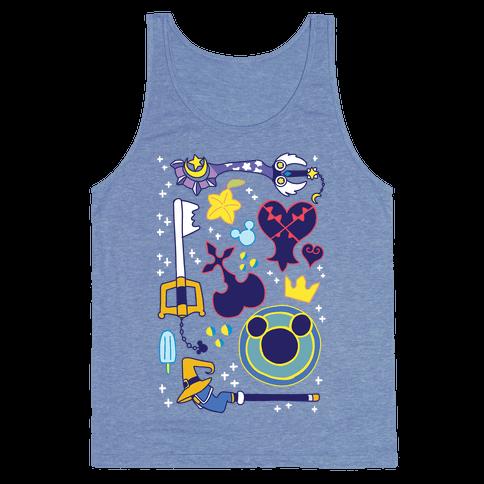 Kingdom Hearts pattern Tank Top