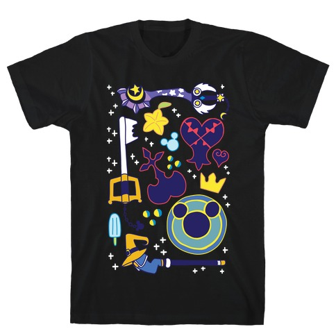 Kingdom Hearts pattern T-Shirt