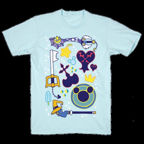 Kingdom Hearts pattern Mens T-Shirt