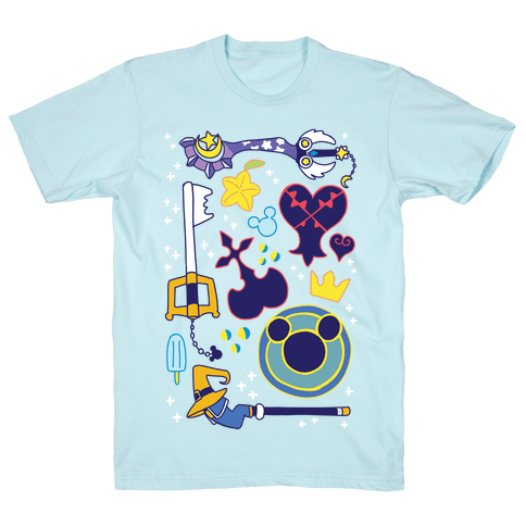 Kingdom Hearts pattern Mens T-Shirt