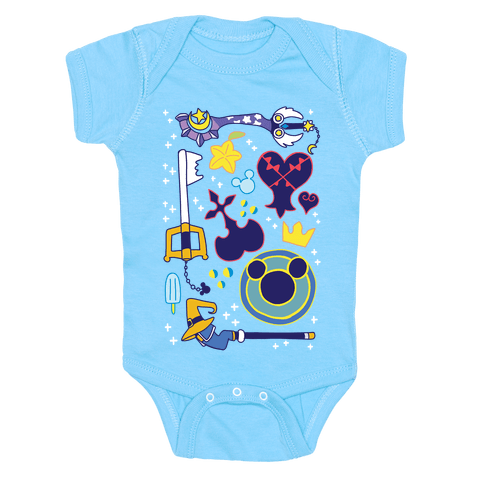 Kingdom Hearts pattern Baby Onesy