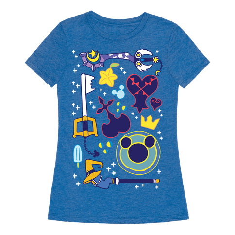 Kingdom Hearts pattern Womens T-Shirt