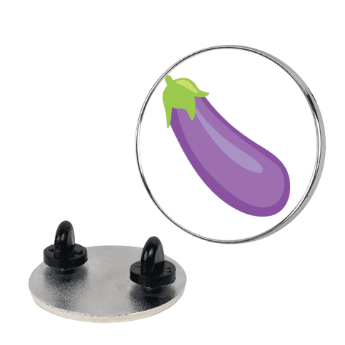 Eggplant/Peach Pair (Eggplant) pin
