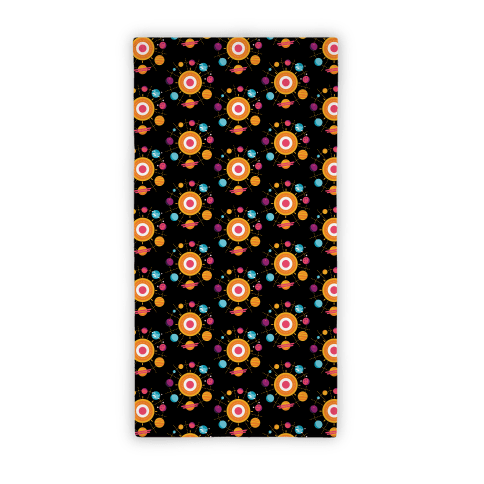 Solar System Pattern Beach Towel