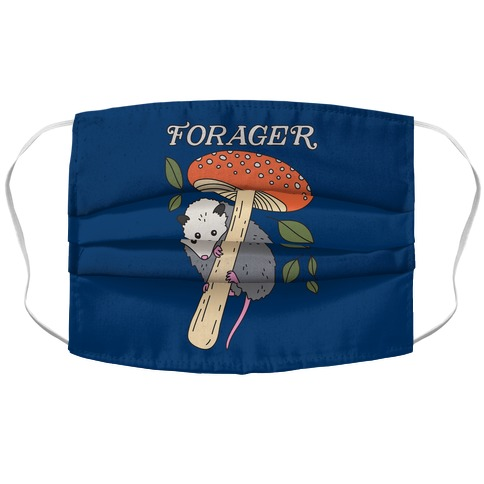 Forager Opossum Accordion Face Mask