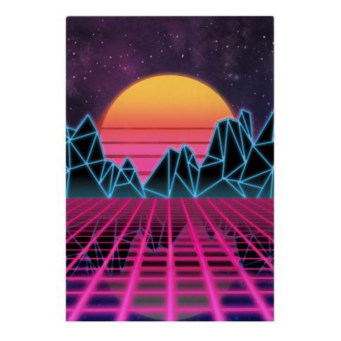 Synthwave Garden Flag
