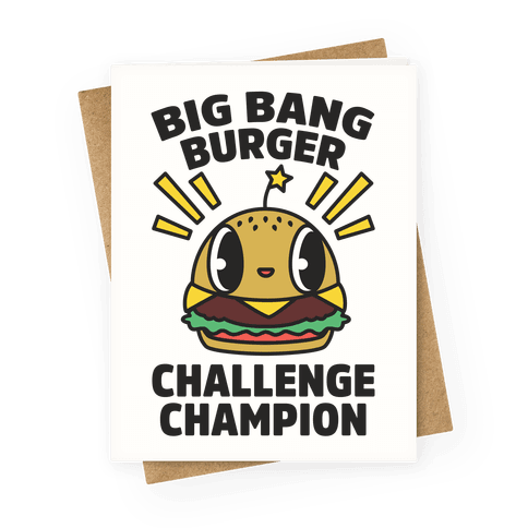 Big Bang Burger Challenge Champion