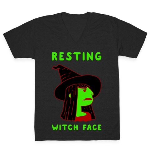 Resting Witch Face V-Neck Tee Shirt