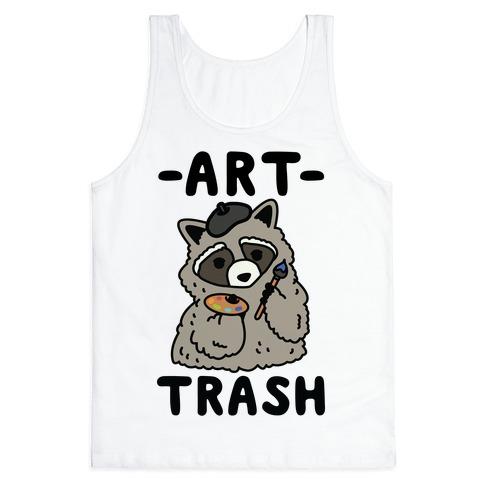 Art Trash Raccoon Tank Top