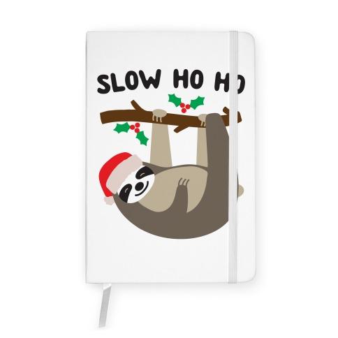 Slow Ho Ho Santa Sloth Notebook