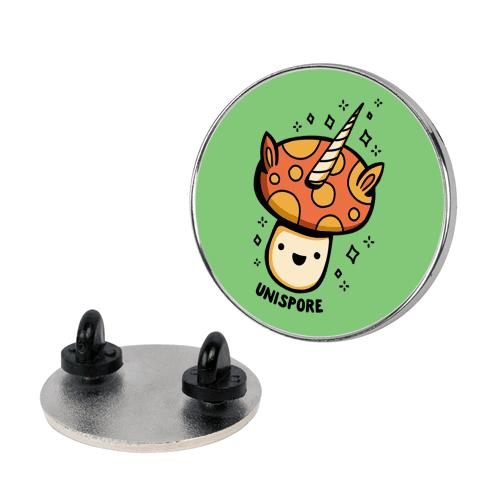 Unispore Unicorn Mushroom Pin