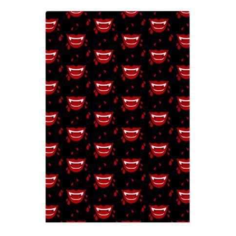 Red Vampire Lips Pattern Garden Flag