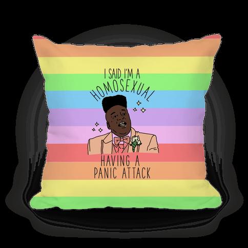 Homosexual Having a Panic Attack Pillow