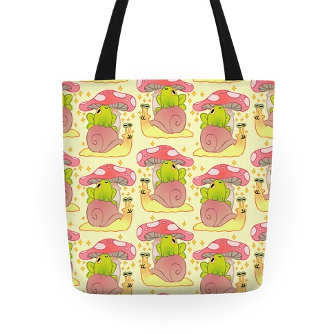 Cute Snail & Frog Tote