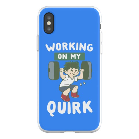 Working On My Quirk - Deku Phone Flexi-Case
