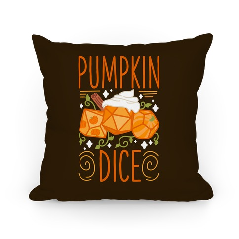 Pumpkin Dice Pillow