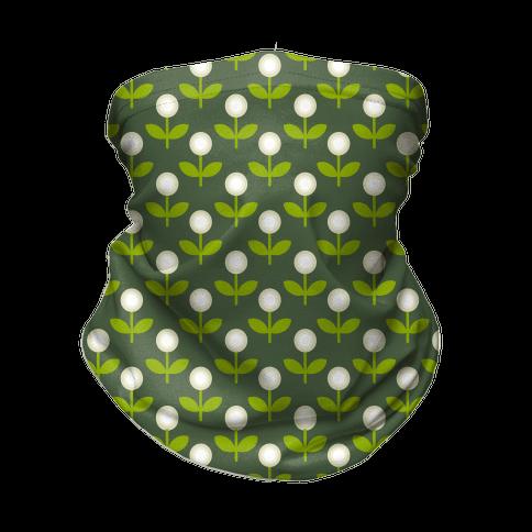 Dainty Retro Dandelions Green Pattern Neck Gaiter