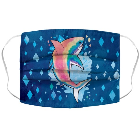 Pride Sharks: Gay Accordion Face Mask