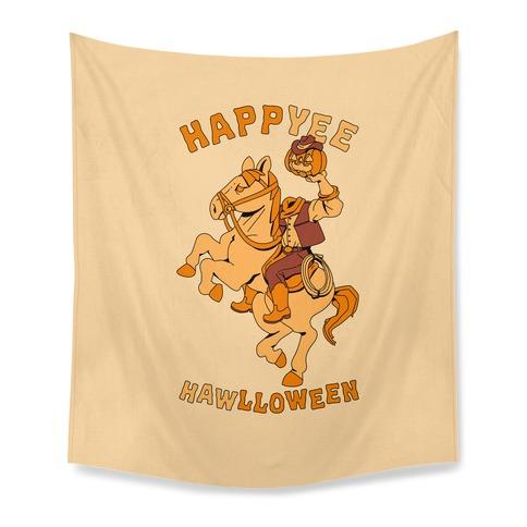 HappYEE HAWlloween Headless Cowboy Tapestry