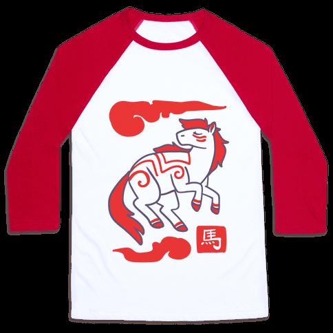 Horse - Chinese Zodiac Baseball Tee