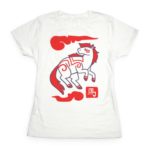 Horse - Chinese Zodiac Womens T-Shirt