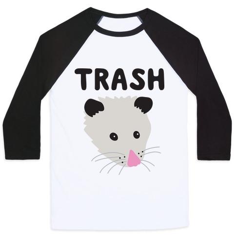 Trash Mates Pair - Opossum 1/2 Baseball Tee