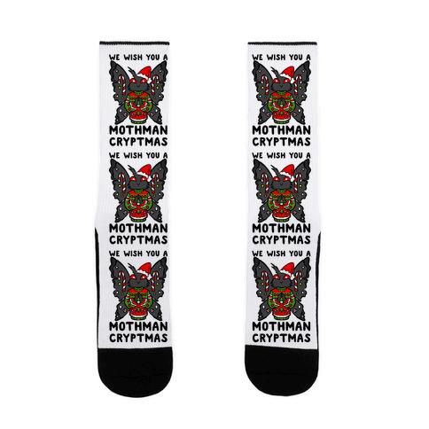 We Wish You A Mothman Cryptmas Sock