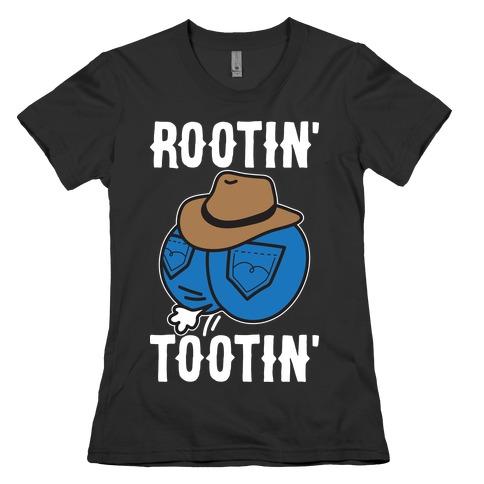 Rootin' Tootin' Cowboy Butt Womens T-Shirt