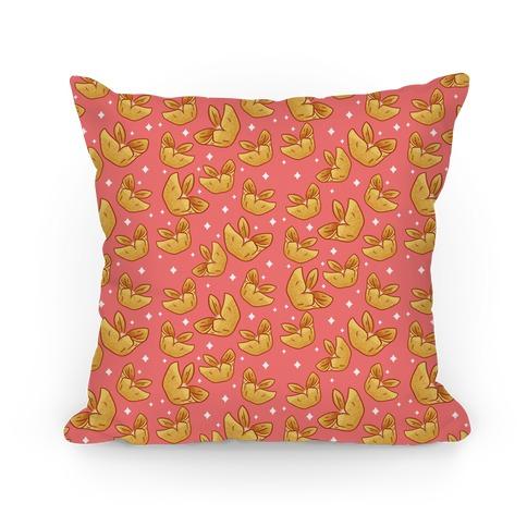 Crab Rangoons Pattern Red Pillow