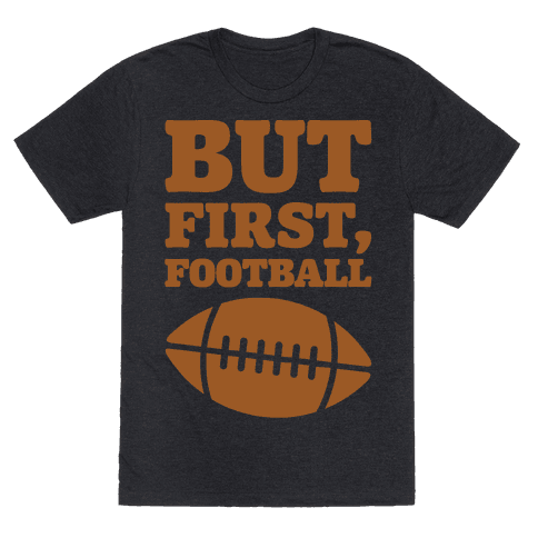 But First Football White Print