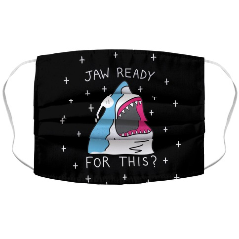 Jaw Ready For This? Shark Accordion Face Mask