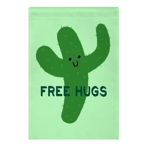 Free Hugs Cactus Garden Flag