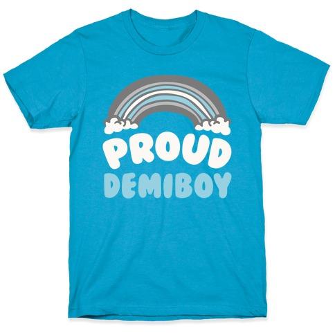 Proud Demiboy White Print T-Shirt