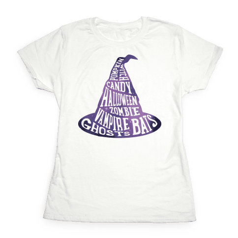 Halloween Witch's Hat Womens T-Shirt