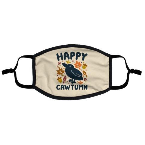 Happy Cawtumn Crow Parody Flat Face Mask