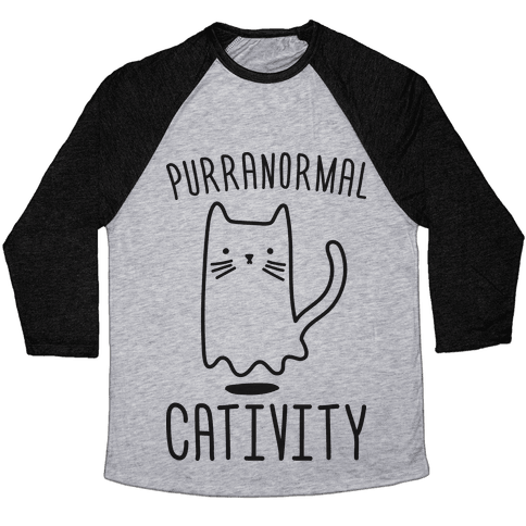 Purranormal Cativity Baseball Tee