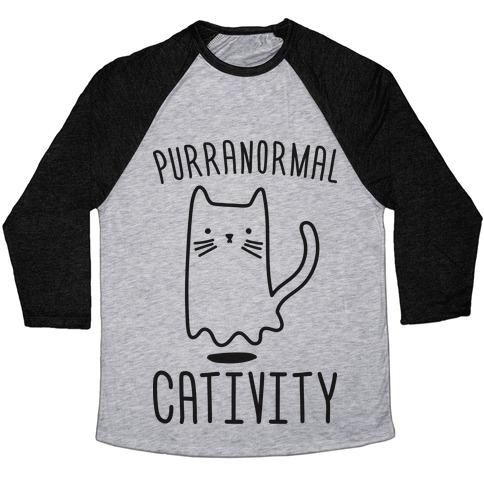 Purranormal Cativity Baseball Tee