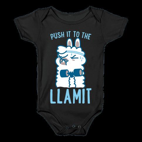 Push it to the Llamit Baby Onesy