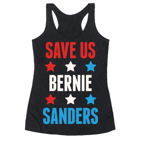 Save Us Bernie Sanders Racerback Tank Top