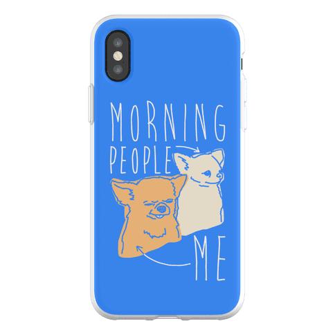 Morning People Vs. Me Phone Flexi-Case