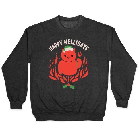 Happy Hellidays Christmas Devil Pullover