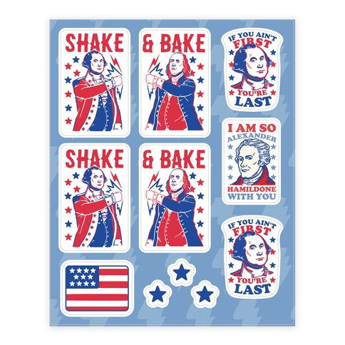 Shake & Bake Patriotic Stickers Sticker/Decal Sheet