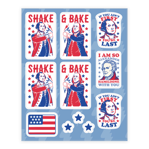 Shake & Bake Patriotic Stickers